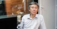 Заместитель председателя ОАО Государственная ипотечная компания Нуржигит Усенакун уулу во время беседы на радио Sputnik Кыргызстан