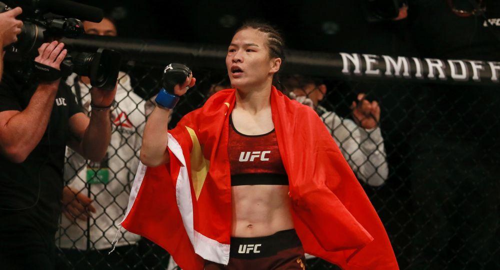 UFC чемпиону Вейли Жанг. Архивдик сүрөт