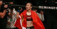 Чемпионка UFC в наилегчайшем весе из Китая Вэйли Жанг. Архивное фото