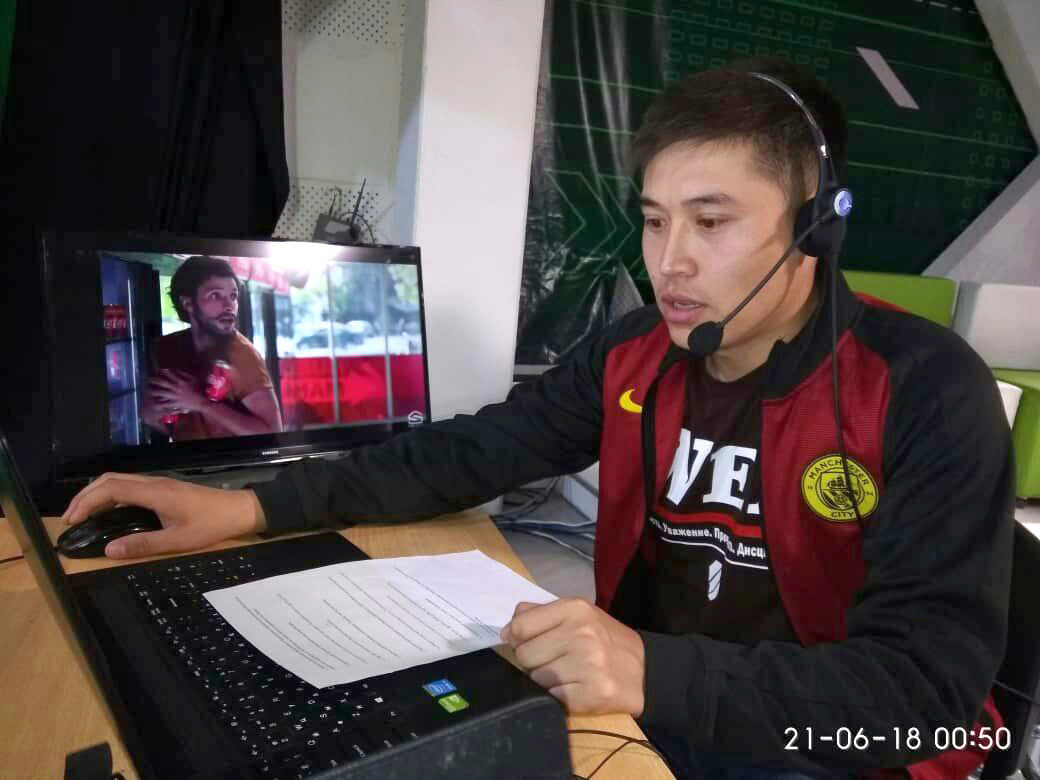 Комментатор КТРК на кыргызском языке Нурсултан Турусбеков