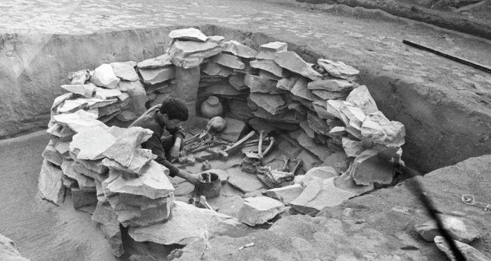 Археологическая экспедиция. Архивное фото
