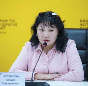 Билим берүү жана илим министрлигинин өкүлү Айнура Кусеинова