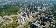 Новостройки на пересечении улиц Аалы Токомбаева (магистраль) и Сухэ-Батора в Бишкеке
