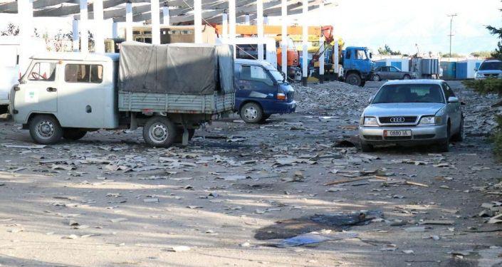 Последствия урагана в Караколе в ночь с 10 на 11 сентября.