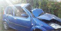 Последствия дтп в Ала-Букинском районе, водитель автомобиля марки Hafei Brio (Lobo) не справился с управлением м перевернулась. Трое подростков пострадали в результате ДТП