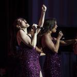 Певицы из группы Soprano Турецкого во время выступления на сцене Национальной филармонии.