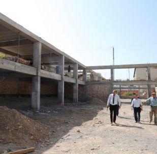Ош шаарынын Манас-Ата кичирайонуна заманбап спорт комплекси салынууда
