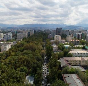 Бишкек шаарына асмандан көрүнүш. Архив