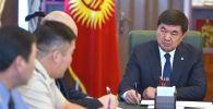 Премьер-министр КР Мухаммедкалый Абылгазиев провел совещание с руководителями силовых структур по текущей ситуации на кыргызско-таджикском участке государственной границы