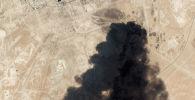 Повреждение нефтегазовой инфраструктуры в результате нападений беспилотников в выходные дни на Абкайг в Саудовской Аравии.  14 сентября 2019 года
