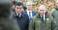 Кыргызстан менен Россиянын президенттери Сооронбай Жээнбеков менен Владимир Путин Оренбург шаарында