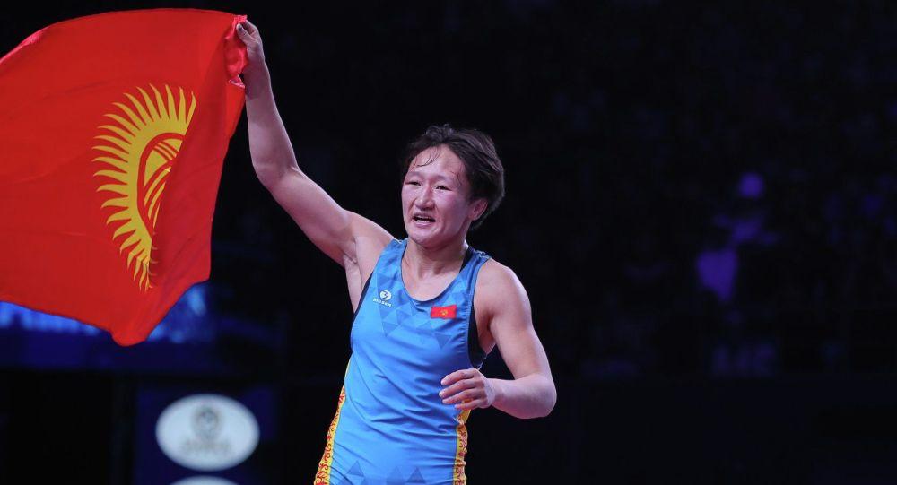 Кыргызстандык балбан Айсулуу Тыныбекова. Архив