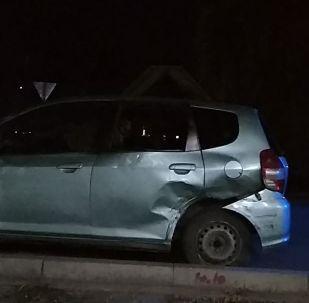 Последствия ДТП на пересечении улиц Калык Акиева и Фрунзе в Бишкеке