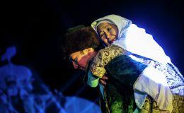 Артисты выступают на официальной церемонии закрытия I Национальных игр кочевников в Таласской области