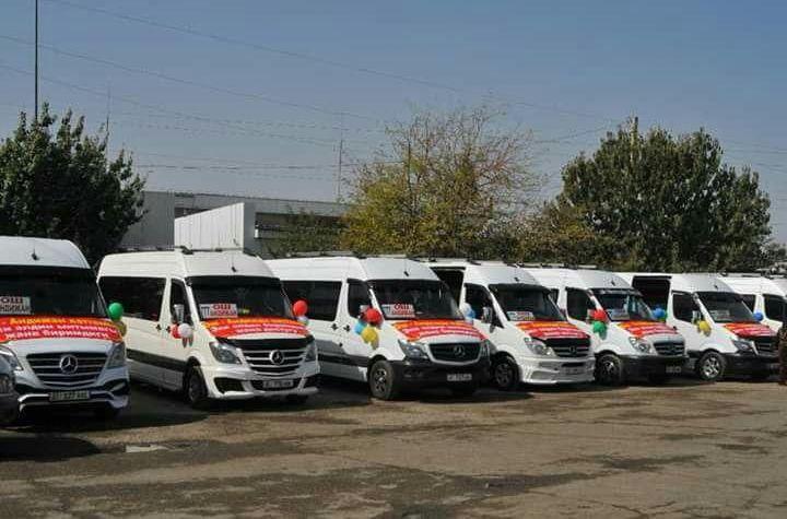 Маршрутные бусы которые будут курсировать маршрут Ош — Андижан. 25 сентябрь 2019 года