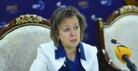 Министр торговли Евразийской экономической комиссии Вероника Никишина на пресс-конференции в рамках международно-выставочного форума Евразийская неделя — 2019
