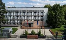 Бишкектеги ТИМ имараты. Архивдик сүрөт