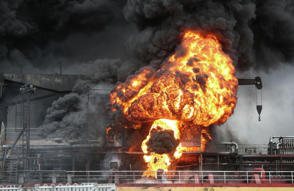 Түштүк Кореянын Ульсан портунда мунай продукциясын ташыган танкер жарылды