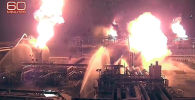 Мощные взрывы на нефтяных объектах Саудовской Аравии из-за атаки дронов. Видео