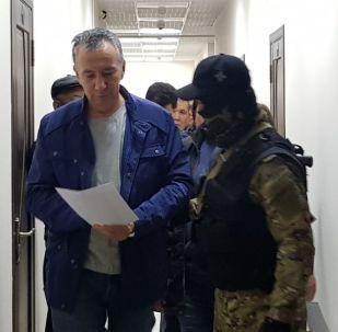 Фарид Ниязов в Первомайском районном суде, где рассматривается дело сторонников бывшего президента Алмазбека Атамбаева
