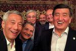 Селфи с лидерами государств ВЕЭС перед заседанием Высшего Евразийского экономического совета (ВЕЭС) в Ереване