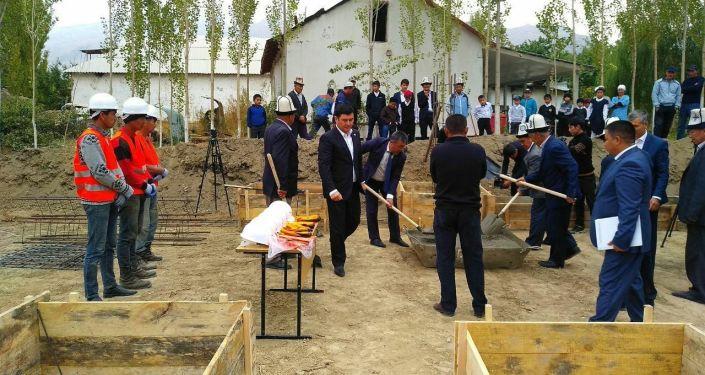 Началось строительство школы в селе Уч-Добо Баткенского района