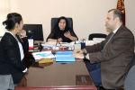Билим берүү жана илим министринин орун басары Надира Жусупбекова жана Кыргызстандагы ЮНИСЕФ уюмунун жетекчисинин орун басары Мунир Мамедзаде