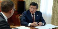 Президент КР Сооронбай Жээнбеков принял председателя Национального банка Кыргызстана Толкунбека Абдыгулова