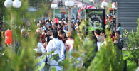 Ошане на открытии парка Ак-Ниет в городе