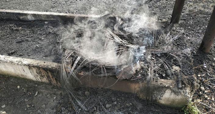В центре Бишкека возникло сильное задымление в результате противопожарных учений