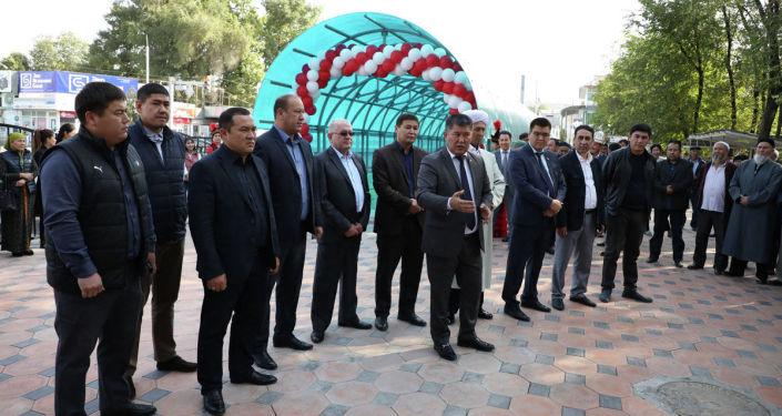 Мэр города Джалал-Абад Мураталы Тагаев участвовал в открытии подземного перехода в городе