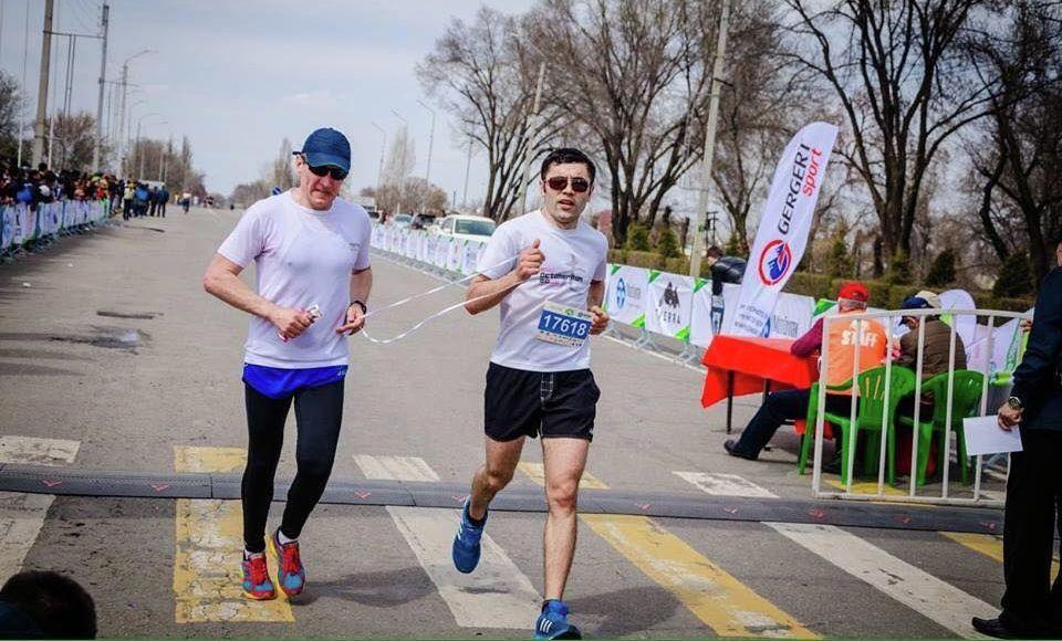 Кыргызский триатлонист Жалалдин Абдувалиев