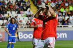 Артём Дзюба (Россия) радуется забитому голу в отборочном матче чемпионата Европы по футболу 2020 между сборными Кипра и России.