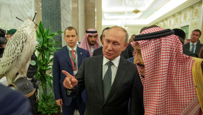 Россия президенти Владимир Путин Сауд Аравия королу Салман ибн Абдул-Азиз Аль Саудга Кыргызстандан алынган шумкар тартуулаган