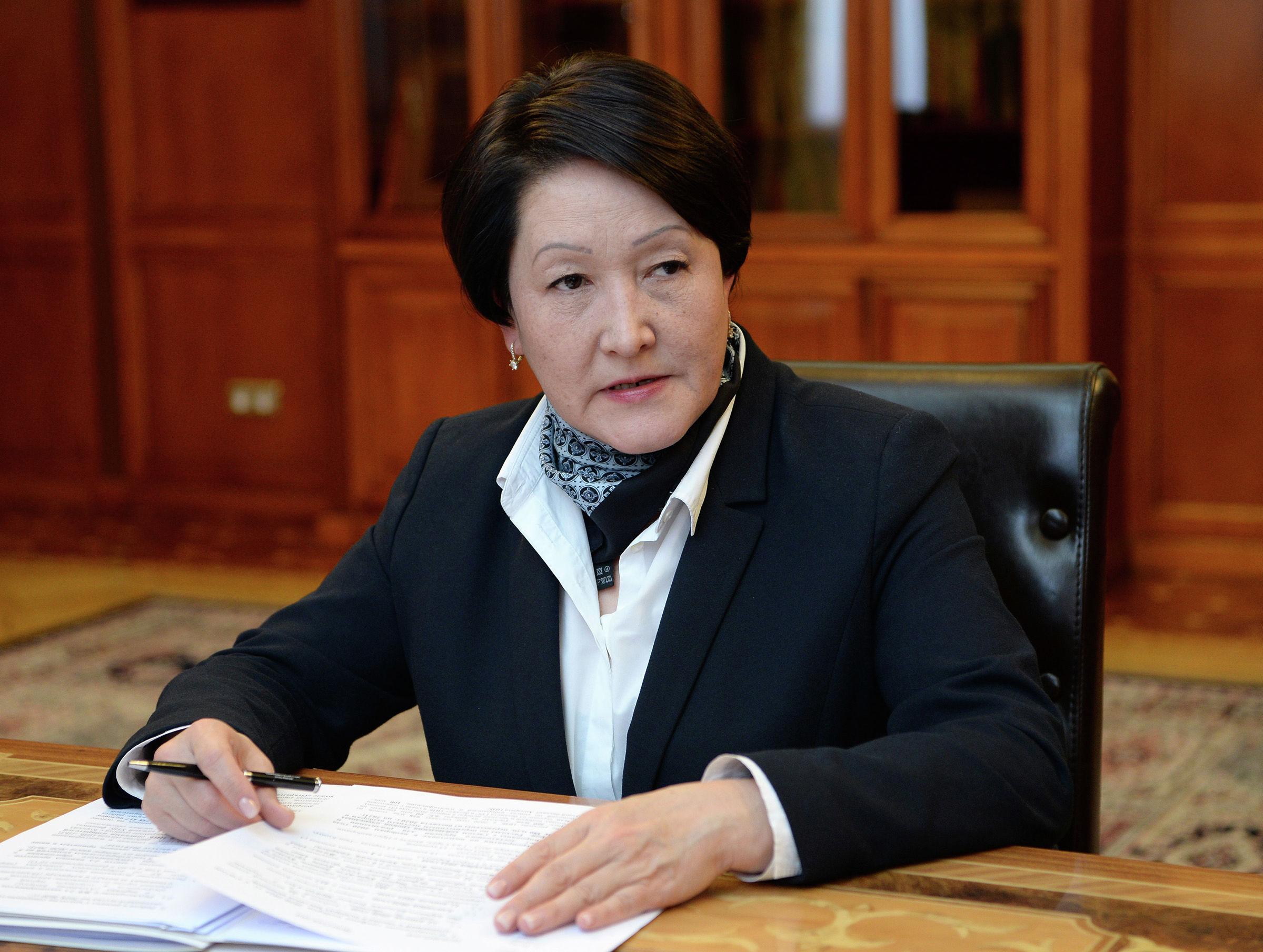 Председатель Центральной комиссии по выборам и проведению референдумов КР Нуржан Шайлдабекова