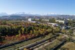 Вид на осенний Бишкек с дрона