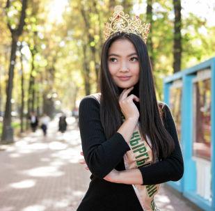 Победительница конкурса красоты Мисс Кыргызстан — 2019 Айжан Чаначева