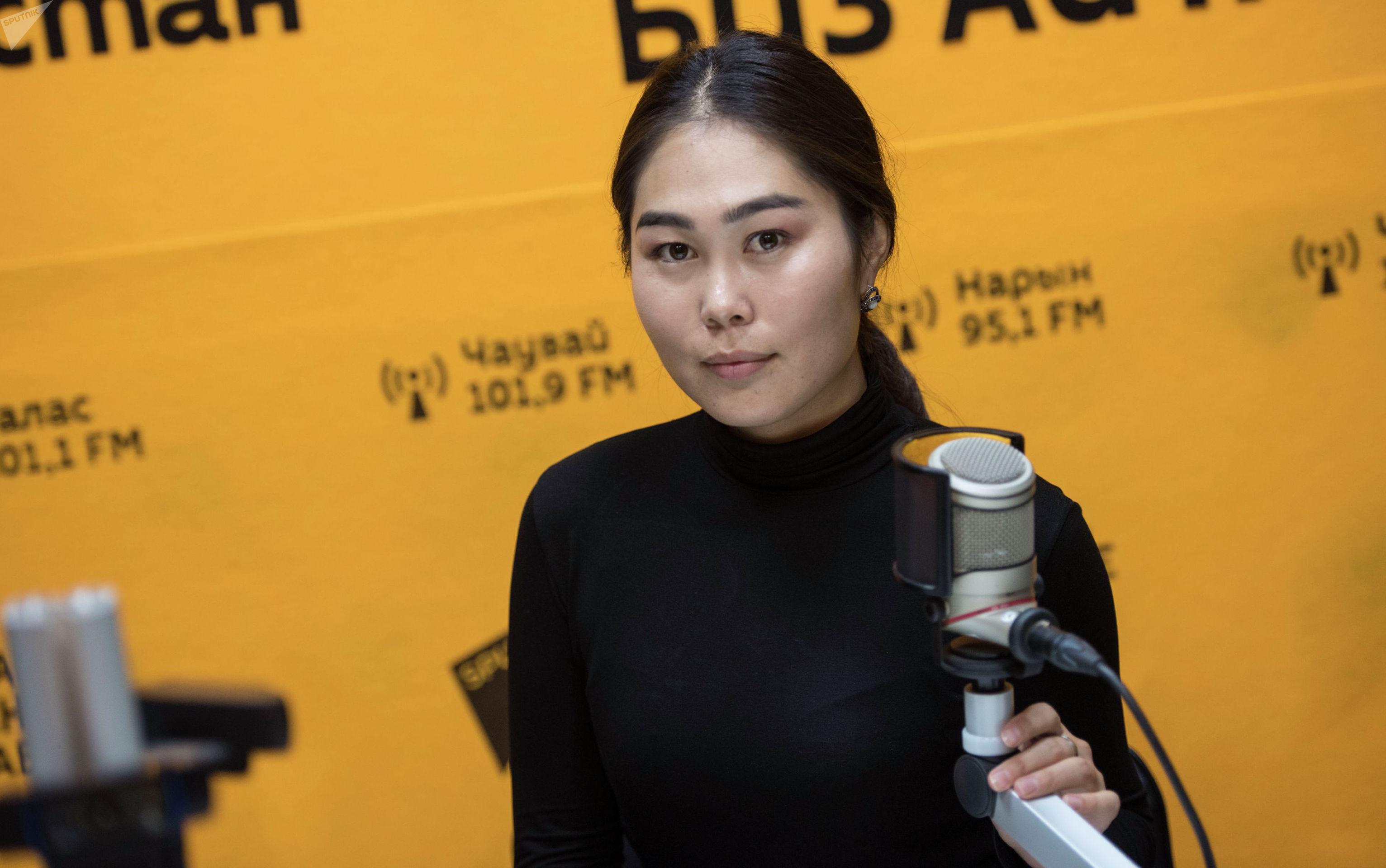Ведущая радио Sputnik Кыргызстан Асель Сыдыкова