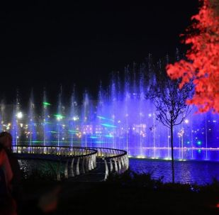 Башкы кооздук лазер менен башкарылган музыкалык эң ири фонтан болду. Аны кытайлык компания даярдап, иштеп чыгып жана орнотуп берген.