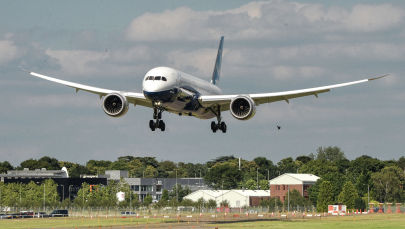 Boeing 787-9 учагы. Архив