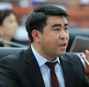 Депутат ЖК Жанар Акаев на заседании. Архивное фото