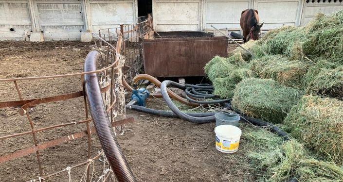 В Кыргызстане недалеко от границы с Казахстаном в селе Кен-Булун нашли длинную вкопанную трубу для перекачки контрабандных горюче-смазочных материалов