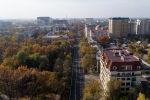 Вид на улицу Московскую в Бишкеке с высоты после ремонта