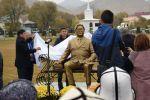 В этнокомплексе Рух-Ордо (Чолпон-Ата) установили памятник первому секретарю Центрального комитета Коммунистической партии Киргизской ССР Турдакуну Усубалиеву.