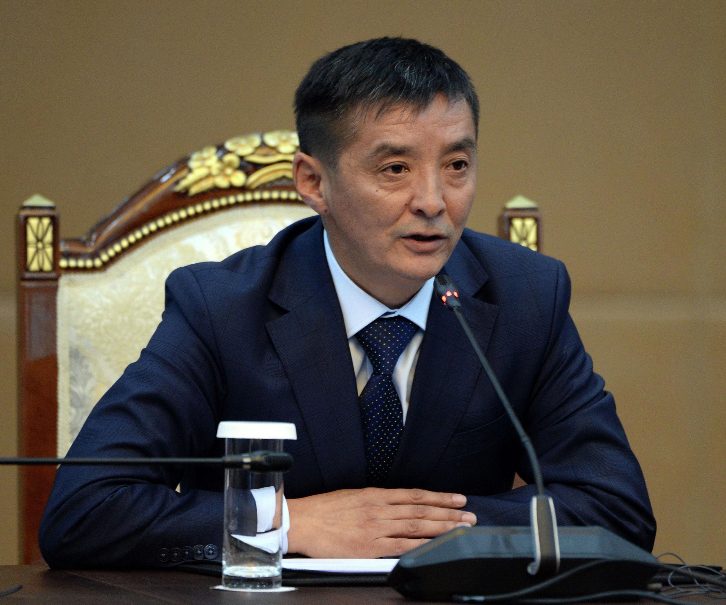 Генеральный директор канала ЭлТР Айбек Мусаев на встрече с президентом