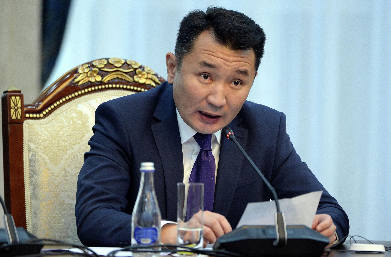 Генеральный директор телеканала НТС Миржан Балыбаев во время встречи с президентом