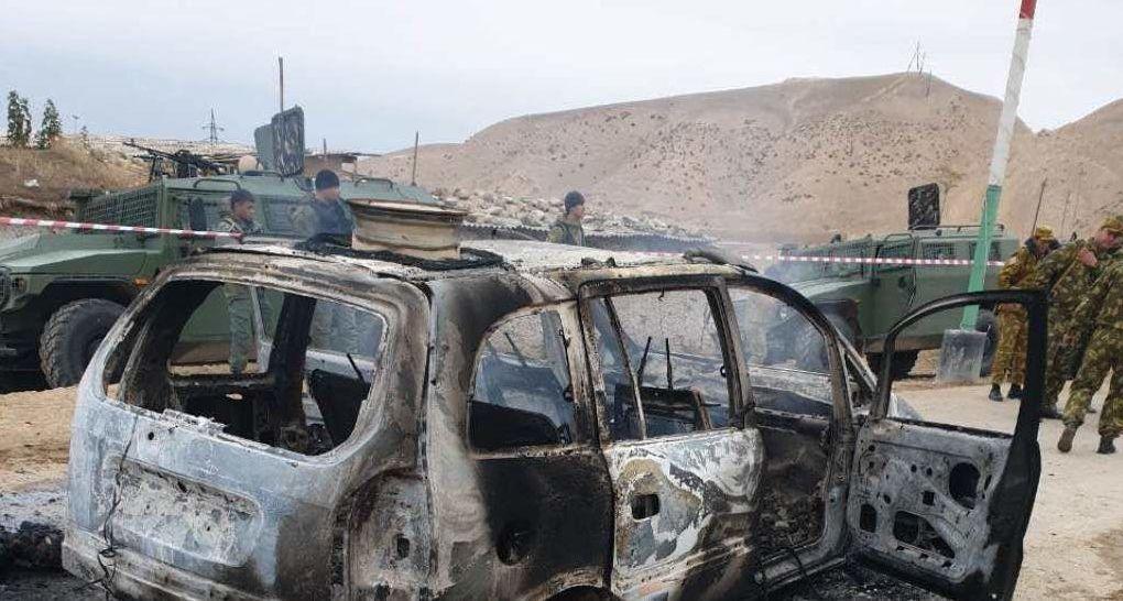 На месте нападения на таджикскую пограничную заставу на госрубежах с Узбекистаном