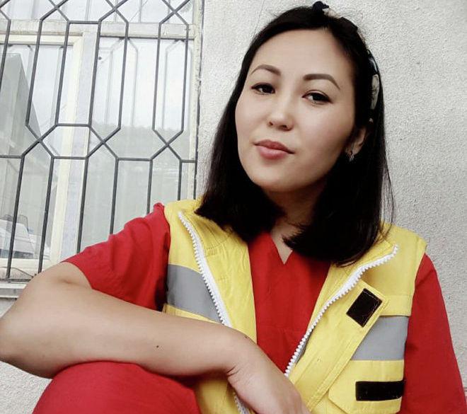 Кардиореаниматолог Бишкекской скорой помощи Айназик Кадыралиева