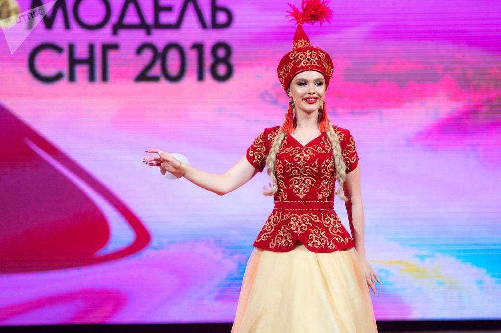 Финал конкурса Топ Модель СНГ 2018. Участница из Кыргызстана Дара Вайсман