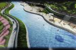 Ош шаарындагы Ак-Буура дарыясынын жээги көрктөндүрүү эскизи